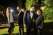 SANDRA BRANT; LUCA DINI; JAMES FRANCO; INGRID SICHY, Italian Vanity Fair's 10 Anniversary celebration  hosted by Luca Dini. . Fondazione Cini, Isola di San Giorgio. Venezia.  1 September 2013