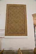 Geometric patterned  mosaic archaeological display inside the Alcazar palace, Cordoba, Spain