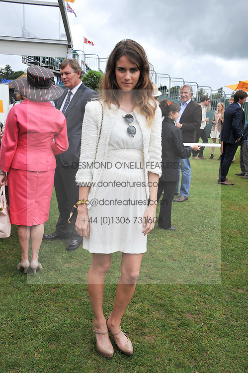 JADE WILLIAMS - Sunday Girl at the 2011 Veuve Clicquot Gold Cup Final at Cowdray Park, Midhurst, West Sussex on 17th July 2011.
