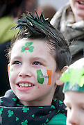 Jack Doyle from Knocknacarra GAlway at he best  Galway St Patrick's Day Parade in years with a hugely international feel to it . photo:Andrew Downes. Photo:Andrew Downes