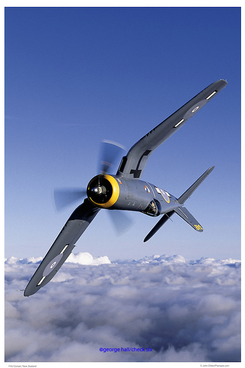 F-4U in vertical roll, aerial