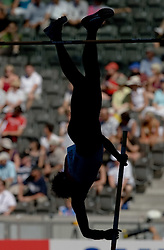 An athlete competes in the men's pole vault qualifying event  during day six of the 12th IAAF World Athletics Championships at the Olympic Stadium on August 20, 2009 in Berlin, Germany. (Photo by Vid Ponikvar / Sportida)