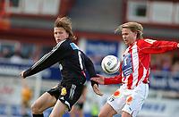 """Fotball/Eliteserien/Alfheim-Tromsø: TIL (Tromsø IL) - RBK 4-1/Frode Johnsen og Bjørn """"Bummen"""" Johansen (TIL) <br /> FOTO: KAJA BAARDSEN/DIGITALSPORT"""