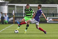 Forest Green Rovers Lee Collins(5) and Exeter City's Jake Taylor(25) during the EFL Sky Bet League 2 match between Forest Green Rovers and Exeter City at the New Lawn, Forest Green, United Kingdom on 9 September 2017. Photo by Shane Healey.