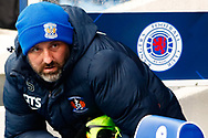 Kris Boyd of Kilmarnock takes his seat in familiar surroundings during the Ladbrokes Scottish Premiership match between Rangers and Kilmarnock at Ibrox, Glasgow, Scotland on 16 March 2019.