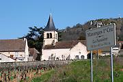 the church and la fuissiere dezize les maranges santenay cote de beaune burgundy france