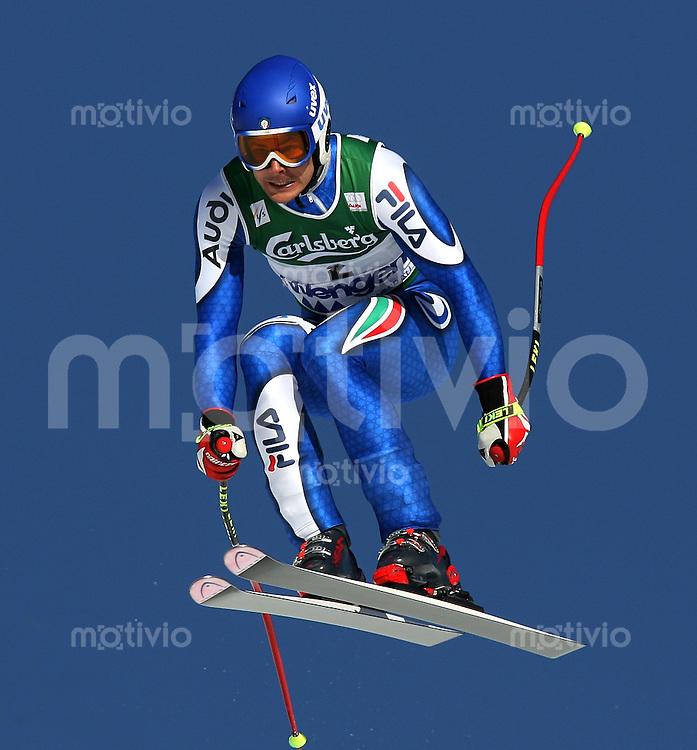 Ski Alpin; Saison 2006/2007  77. Weltcup Abfahrt Herren Roland Fischnaller (ITA) am Hundschopfsprung