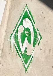 22.09.2010, Trainingsgelaende Werder Bremen, Bremen, GER, 1. FBL, Training Werder Bremen, im Bild Feature Werder-Logo an einer Wand im Stadion   EXPA Pictures © 2010, PhotoCredit: EXPA/ nph/  Frisch+++++ ATTENTION - OUT OF GER +++++ / SPORTIDA PHOTO AGENCY