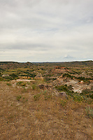 Painted Canyon Overlook Panorama. Theodore Roosevelt National Park. Image 2 of 6 taken with a Nikon D3x camera and 24 mm f/1.4 lens (ISO 100, 24 mm, f/16, 1/50 sec). Raw image processed with Capture One Pro and composite generated using AutoPano Giga Pro.