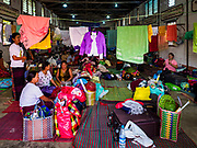 28 NOVEMBER 2017 - YANGON, MYANMAR: People from Kachin state in northern Myanmar going to the papal mass Wednesday are sleeping in a parish hall at St. Francis of Assisi Church in Yangon. About 1,500 people are camping at the church before the papal mass at Kyaikkasan Sports Ground, about three kilometers from the church.    PHOTO BY JACK KURTZ