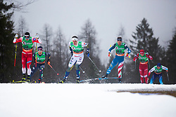 SKAR Sindre Bjoernestad (NOR), HAEGGSTROEM Johan (SWE), Simeon HAMILTON (USA)  during the man team sprint race at FIS Cross Country World Cup Planica 2019, on December 1, 2019 at Planica, Slovenia. Photo By Peter Podobnik / Sportida