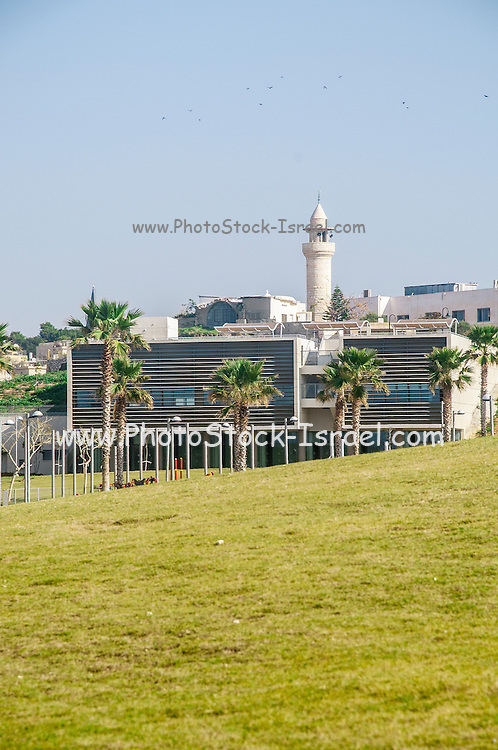 Israel, Jaffa beach front view of the Midron Yafo Park (Jaffa Slope) from the south