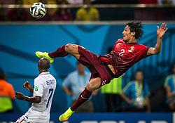 Jun 22, 2014 - Manaus, Brazil - BRUNO ALVES goes airborne during World Cup Group G match between Portugal vs USA at the Arena Amazon. (Credit Image: © Jonne Roriz/Fotoarena/ZUMAPRESS.com)
