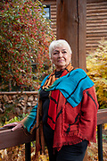 Portrait of Elaine Willman, former chair of CERA (Citizens Equal Rights Alliance) outside the conference center for This West Is OUR West, in Whitefish, Montana.