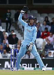 May 27, 2019 - London, England, United Kingdom - Jos Buttler of England.during ICC Cricket World Cup - Warm - Up between England and Afghanistan at the Oval Stadium , London,  on 27 May 2019. (Credit Image: © Action Foto Sport/NurPhoto via ZUMA Press)