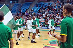 September 15, 2017 - Tunis, Tunisia - The Nigeria team during the semi-final of FIBA AfroBasket 2017....Afrobasket 2017: Semifinal: Senegal eliminated by Nigeria who find Tunisia in the final  (Credit Image: © Chokri Mahjoub via ZUMA Wire)