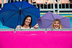 PORTOROZ, SLOVENIA - SEPTEMBER 19:  Katarina Srebotnik of Slovenia and Mima Jausovec during the WTA 250 Zavarovalnica Sava Portoroz at SRC Marina, on September 19, 2021 in Portoroz / Portorose, Slovenia. Photo by Vid Ponikvar / Sportida