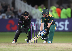 Greg Smith of Notts Outlaws in action (R) - Mandatory by-line: Jack Phillips/JMP - 29/07/2016 - CRICKET - Trent Bridge - Nottingham, United Kingdom - Nottingham Outlaws v Leicester Foxes - Natwest T20 Blast