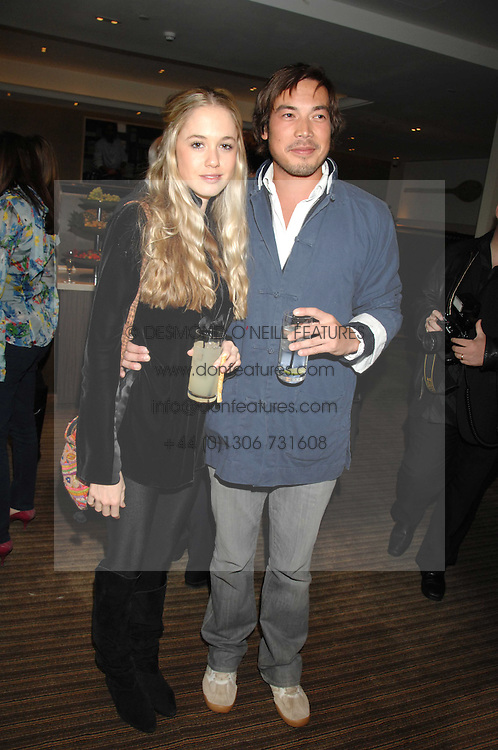 FLORENCE BRUDENELL-BRUCE and IAIN RUSSELL at a party to celebrate the publication of Lisa B's book 'Lifestyle Essentials' held at the Cook Book Cafe, Intercontinental Hotel, Park Lane London on 10th April 2008.<br /><br />NON EXCLUSIVE - WORLD RIGHTS