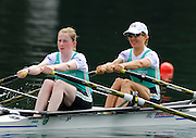 2006 FISA World Cup, Lucerne, SWITZERLAND, 08.07.2006, IRL LW2X, bow Sinead JENNINGS and Niamh NI CHEILLEACHAIR, Photo  Peter Spurrier/Intersport Images email images@intersport-images.com....[Mandatory Credit Peter Spurrier/Intersport Images... Rowing Course, Lake Rottsee, Lucerne, SWITZERLAND.