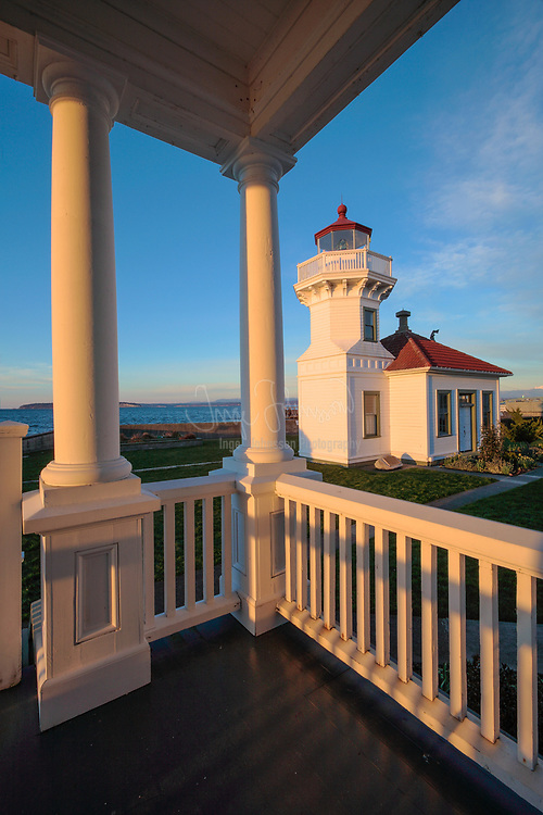 Mukilteo light station in Snohomish county north of Seattle