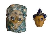 Phoenician Glass Heads 3rd century BCE