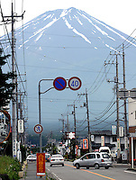 Utsikt moy Fujijyama, Japans hellige fjell, Mount Fuji, Japan's holly mountain
