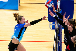 Marly Bak of Zwolle in action during the first league match between Djopzz Regio Zwolle Volleybal - Laudame Financials VCN on February 27, 2021 in Zwolle.