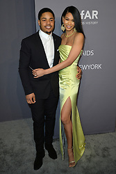 February 7, 2019 - New York, NY, USA - February 6, 2019  New York City..Sterling Shepard and Chanel Iman attending amFar Gala arrivals during New York Fashion Week on February 6, 2019 in New York City. (Credit Image: © Kristin Callahan/Ace Pictures via ZUMA Press)