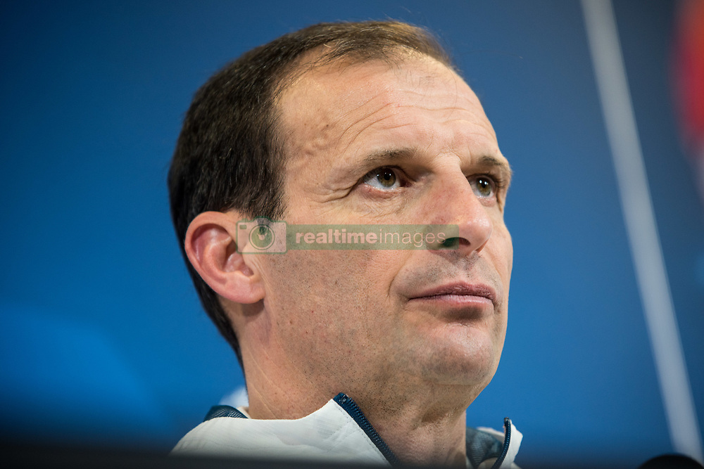 April 2, 2018 - Turin, Piedmont/Italy, Italy - Massimiliano Allegri during the Juventus FC press conference before the UFC mathc against Real Mardird. Allianz Stadium, Turin, Italy 2nd april 2018  (Credit Image: © Alberto Gandolfo/Pacific Press via ZUMA Wire)