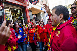 March 23, 2019 - Valencia, SPAIN - 190323 Spanish fans ahead of the UEFA Euro Qualifier football match between Spain and Norway on March 23, 2019 in Valencia..Photo: Fredrik Varfjell / BILDBYRÃ…N / kod FV / 150220 (Credit Image: © Fredrik Varfjell/Bildbyran via ZUMA Press)
