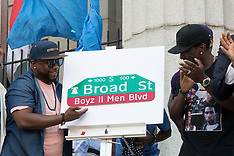 Philadelphia: Boyz II Men Street Dedication - 24 June 2017