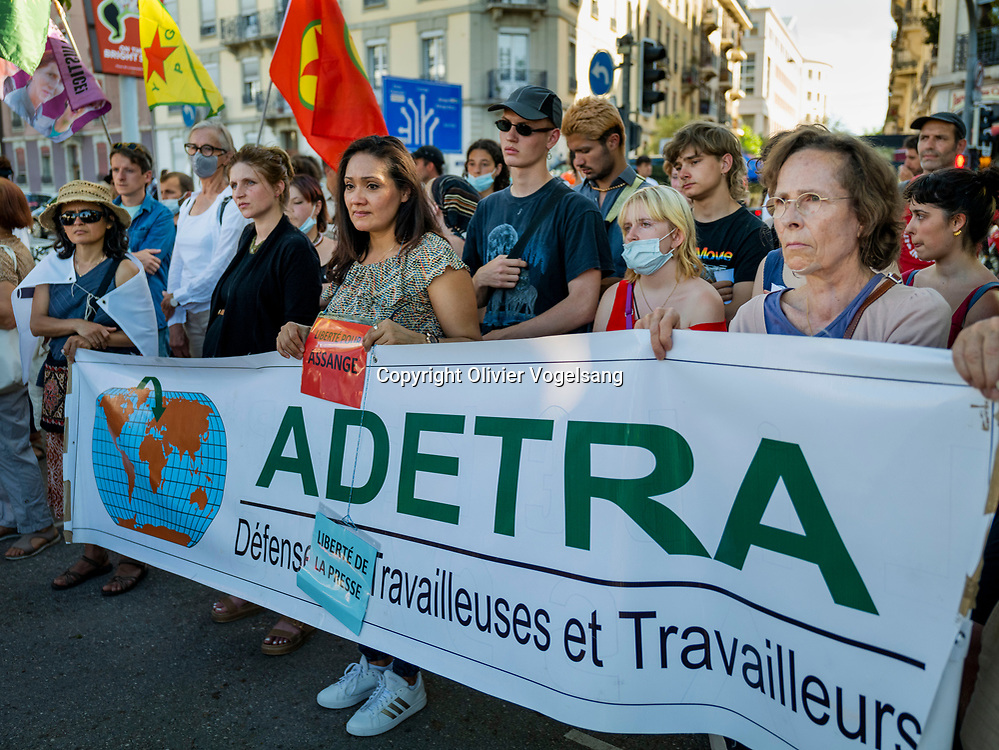 Genève 16 juin 2021. Manifestation contre le sommet Biden et Poutin © Olivier Vogelsang