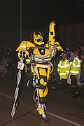 Auto-matik by A and A Carnival Club., winner of the Single Masquerader class at the 2011 Bridgwater Carnival. Bridgwater Carnival is an annual event to raise money for local charities. It is widely reputed to be the largest illuminated carnival in the world.