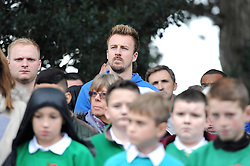 Chris Lines of Bristol Rovers attends the Memorial Service - Mandatory byline: Dougie Allward/JMP - 07966 386802 - 11/11/2015 - Memorial Stadium - Bristol, England- Memorial Service