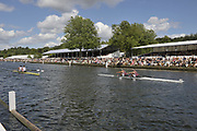 Henley, Great Britain.  Final,  Goblets and Nickals Challange Cup, NZL M2-, Bow Eric MURRAY and Hamish BOND lead home GBR M2-, Bow Andy TRIGGS-HODGE and Peter REED,  Finals day. 2009 Henley Royal Regatta. Sunday  05/07/2009 [.Mandatory Credit. Peter Spurrier/Intersport Images]