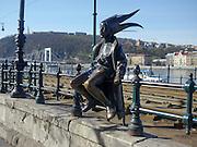 Bronze statue of Boy Jester, Budapest, Hungary