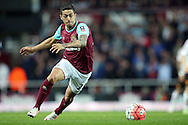 Manuel Lanzini of West Ham United in action. The Emirates FA cup, 6th round replay match, West Ham Utd v Manchester Utd at the Boleyn Ground, Upton Park  in London on Wednesday 13th April 2016.<br /> pic by John Patrick Fletcher, Andrew Orchard sports photography.