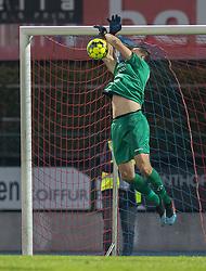 Kevin Stuhr Ellegaard (FC Helsingør) redder under kampen i 1. Division mellem Hvidovre IF og FC Helsingør den 15. september 2020 på Pro Ventilation Arena, Hvidovre Stadion (Foto: Claus Birch).
