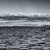 lighthouse & Piings<br />edited 2/26/18 <br /> converted to B&W 2/26/18<br /> printed 5/31/18