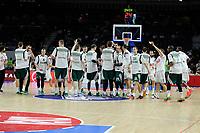 Real Madrid´s -- and Zalgiris Kaunas´s -- during 2014-15 Euroleague Basketball match between Real Madrid and Zalgiris Kaunas at Palacio de los Deportes stadium in Madrid, Spain. April 10, 2015. (ALTERPHOTOS/Luis Fernandez)