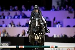Porter Wilton, USA, Delinquent JX<br /> Jumping Indoor Maastricht 2016<br /> © Hippo Foto - Dirk Caremans<br /> 12/11/2016