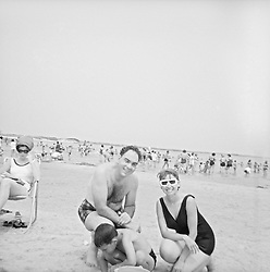 1960's snapshot of a couple at Jones Beach, NY