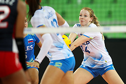 Lana Scuka of Slovenia during the volleyball match between National team of Slovenia and Dominican Republic in Preliminary Round of Womens U23 World Championship 2017, on September 4, 2017 in SRC Stozice, Ljubljana, Slovenia. Photo by Morgan Kristan / Sportida