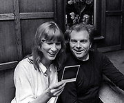Van Morrison at an end of tour dinner 1980