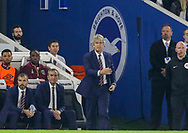 West Ham United manager Manuel Pellegrini gives instructions during the Premier League match between Brighton and Hove Albion and West Ham United at the American Express Community Stadium, Brighton and Hove, England on 5 October 2018.