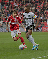 Bristol City's Jamie Paterson (left) vies for possession with Fulham's Ivan Cavaleiro (right) <br /> <br /> Photographer David Horton/CameraSport<br /> <br /> The EFL Sky Bet Championship - Bristol City v Fulham - Saturday 7th March 2020 - Ashton Gate Stadium - Bristol<br /> <br /> World Copyright © 2020 CameraSport. All rights reserved. 43 Linden Ave. Countesthorpe. Leicester. England. LE8 5PG - Tel: +44 (0) 116 277 4147 - admin@camerasport.com - www.camerasport.com