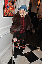 VIRGINIA BATES at a party to celebrate thelaunch of Alice Temperley's flagship store Temperley, Bruton Street, London on 6th December 2012.