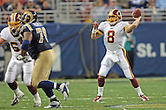 Washington Redskins quarterback Mark Brunell (8) gets ready to pass down field against St. Louis in the first half, at the Edward Jones Dome in St. Louis, Missouri, December 4, 2005.  The Redskins beat the Rams 24-9.