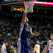 Anadolu Efes's Nenad Krstic (C) during their Turkish Basketball League match Fenerbahce Ulker between Anadolu Efes at the Ulker Sports Arena in Istanbul, Turkey, Sunday 26 April, 2015. Photo by Aykut AKICI/TURKPIX